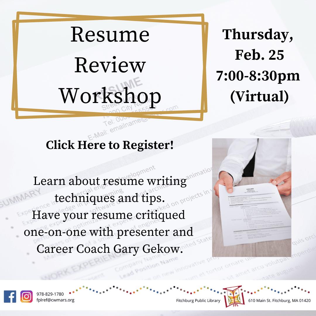 Resume Review Workshop